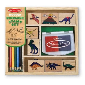 stamp set dinosaurs