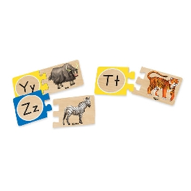 Self-correcting alphabet puzzles
