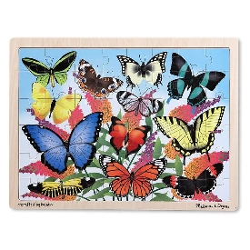 Wooden jigsaw puzzle butterfly 48pc