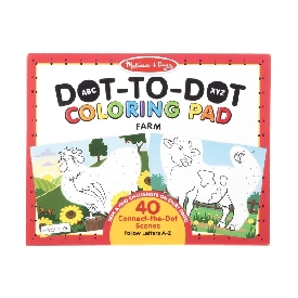 Abc dot-to-dot coloring farm