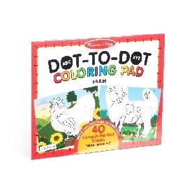 Abc dot-to-dot coloring farm