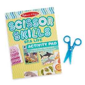 Sea life scissor skills activity pad