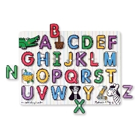 See-inside peg puzzles - alphabet