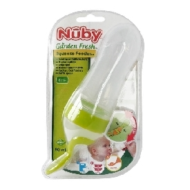 Silicone squeeze feeder