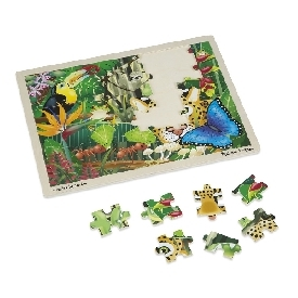 Wooden jigsaw puzzle rain forest 48pc
