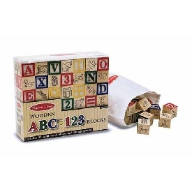 Wooden ABC-123 Blocks