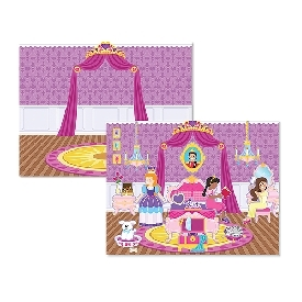 Princess castle reusable sticker pad