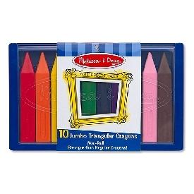 Jumbo Triangular Crayons x 10