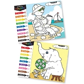 Jumbo coloring pads - color-by-dot