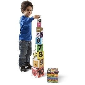 Number & shapes nesting blocks