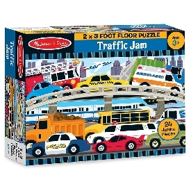 floor puzzle traffic jam 24 pc