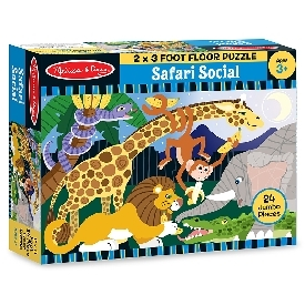 Floor puzzle safari social 24 pc