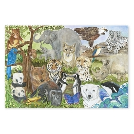 Floor puzzle endangered species 48 pc
