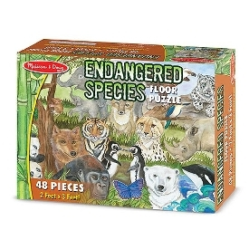 Floor puzzle endangered species 48 pc