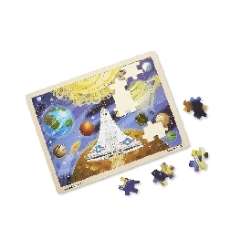 Wooden jigsaw puzzle space voyage 48pc