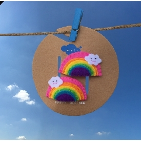 Sati fc058 hair clip little rainbow