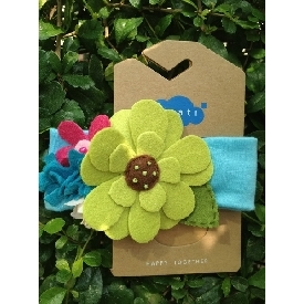 Sati hb044  headband blue mixed flower