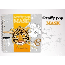 Graffy pop mask - animals