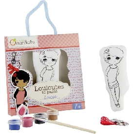 Girl doll to paint with keychain