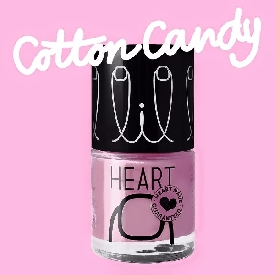Little heart nail color cotton candy 21