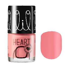Little heart nail color flamingo pink 01