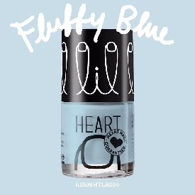 Little heart nail color fluffy blue 06