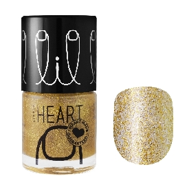 Little heart nail color stardust gold 25