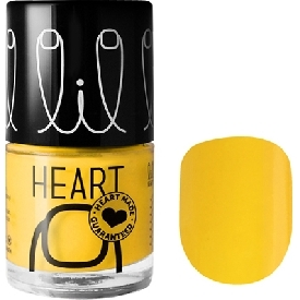 Little heart nail color sunkissed yellow 19