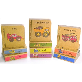 Book tower - little vehicle books