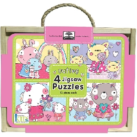 Jigsaw puzzle box - cuties