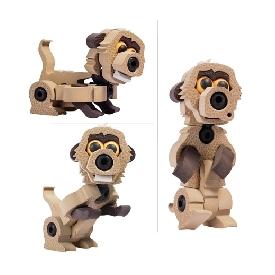 bloco - lion & meerkat