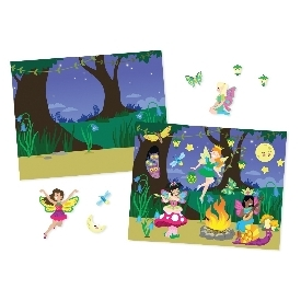 Reusable sticker pad fairies
