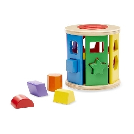 Shape sorting match & roll