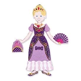 Puffy reusable sticker set princess