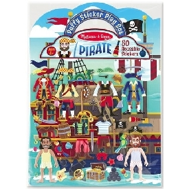 Puffy reusable sticker set pirate