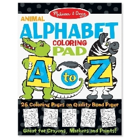 Coloring pad - animal alphabet