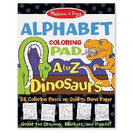 Coloring pad - dinosaurs alphabet