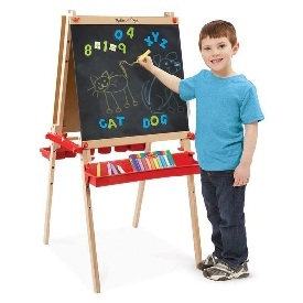 Deluxe magnetic standing easel