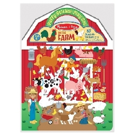 puffy reusable sticker set farm