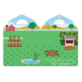 puffy reusable sticker set farm