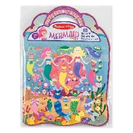 Puffy reusable sticker set mermaid