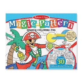 Magic pattern coloring pad blue