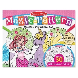 Magic Pattern Coloring Pad Pink