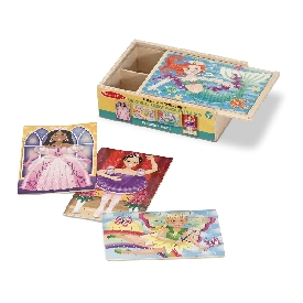 4-in-1 puzzles in a box fanciful friends jigsaw