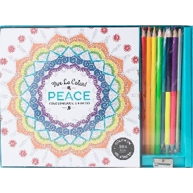 Peace coloring book & pencils