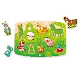 Farmyard peg puzzle