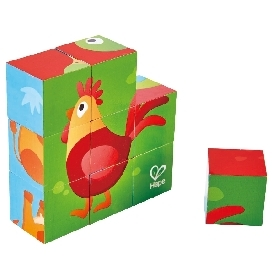 Farm animal block puzzle