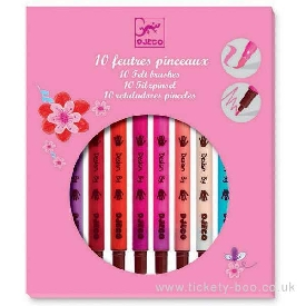 10 Sweet Colours Felt Brushes