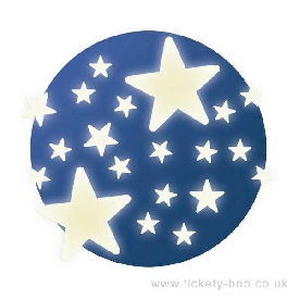 Stars glow in the dark decorations