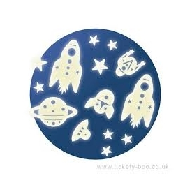 Space mission glow in the dark decorations
